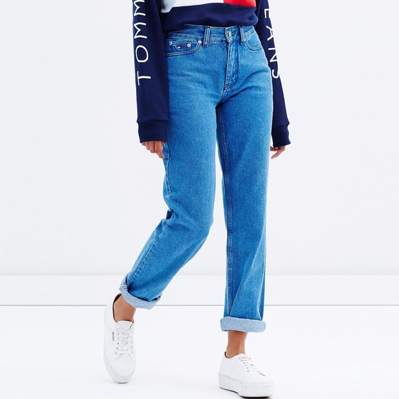 5b898c9b Tommy Hilfiger Denim - Tommy Hilfiger Denim - TJW 90s Mom Jean Rich Blue